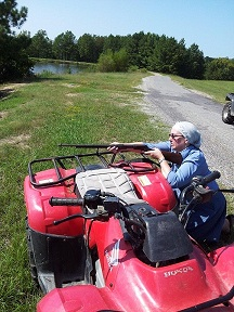 Sharpshooting Susan with ATV, Arkansas, Sept. 2012, smaller